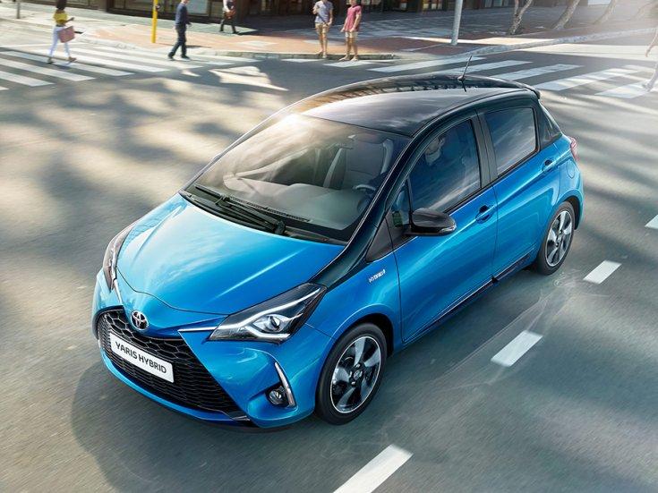 2017 Toyota Yaris hibrid felülnézetből