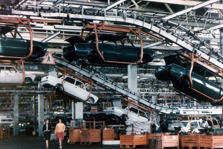 A Volgai Autógyár gyártósora