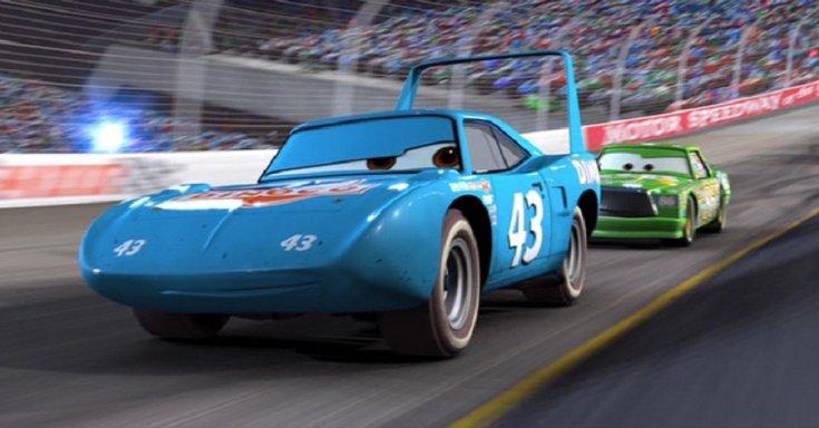 Disney Verdák, 2006, verseny, Plymouth Superbird, oldalnézet, jobbról