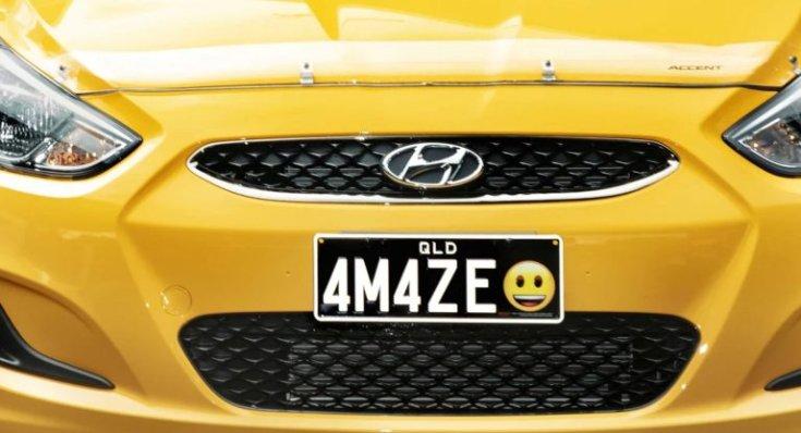 Emojis rendszámtábla az ausztráliai Queenslandben