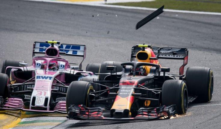 Ocon és Verstappen ütközése a 2018-as Brazil Nagydíjon