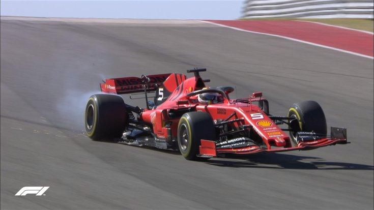 Vettelnek eltört a felfüggesztése