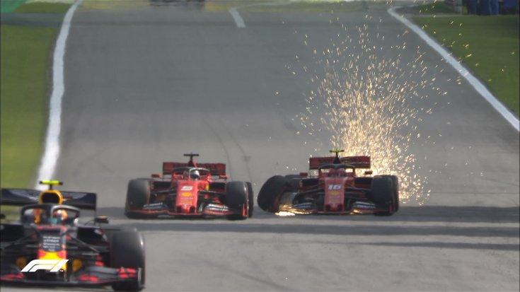 Vettel és Leclerc csatája szemből