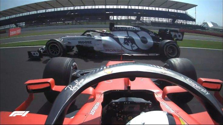 Vettel a rajt után azonnal megpördült A 70. Évforduló Nagydíja