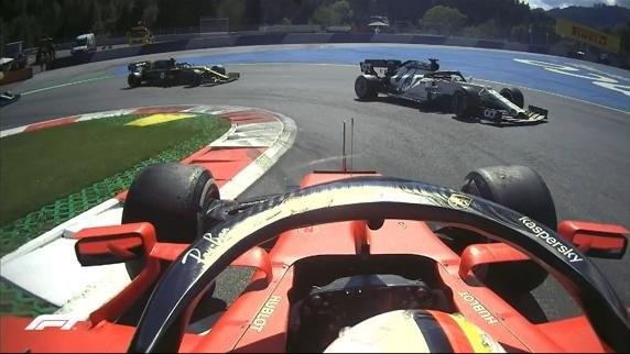 Vettel megpörgése az Osztrák Nagydíjon
