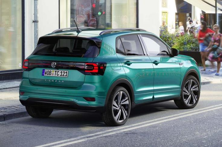 2018-as Volkswagen T-Cross hátulról