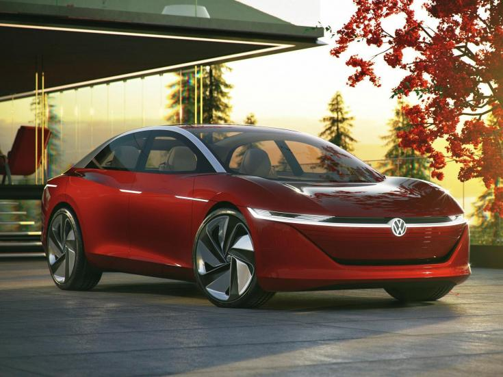 Volkswagen I.D. Vizzion koncepció szemből – látványterv