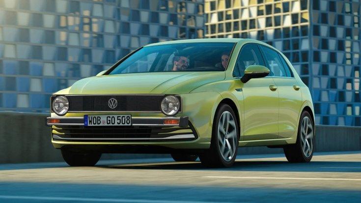 Új mk8-as Volkswagen Golf a régi 1-es Golf orrával