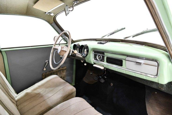 1956 Wartburg 311, almazöld, műszerfal, oldalnézet, jobbról