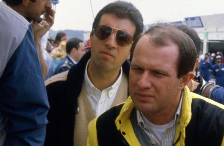 Piero Lardi Ferrari és a Ferrari motorsport igazgatója, Marco Piccinini