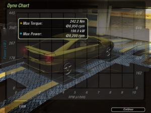 Akár egy rendes teljesítménymérésen, megkapjuk a görbéket, mekkora fordulatszámon milyen erős az autónk