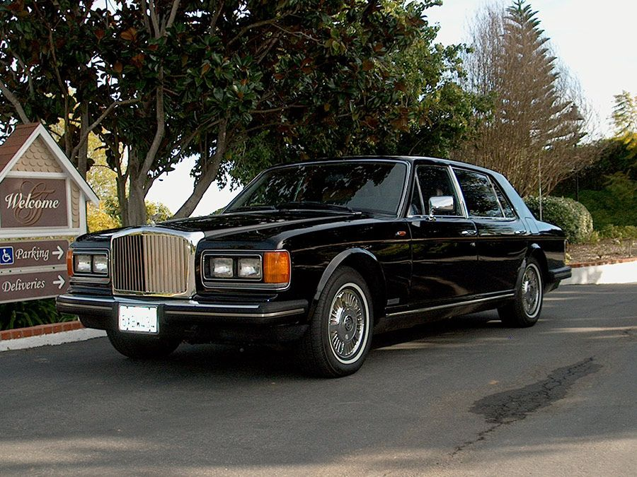1980-as fekete Bentley Mulsanne