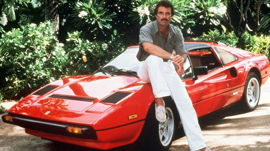 Tom Selleck és 308-as GTS Ferrarija